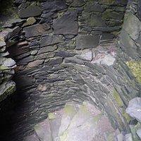 Stairwell inside Dunskey Castle