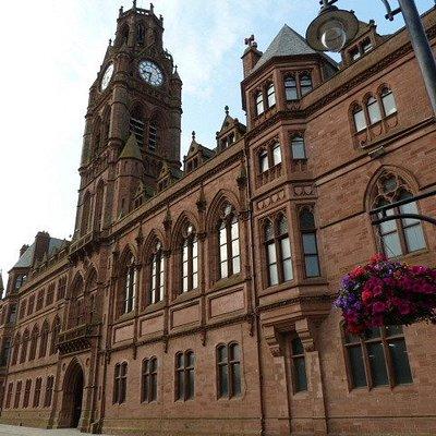 Barrow town hall from pedestrian area