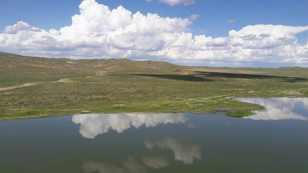 The lake and sky