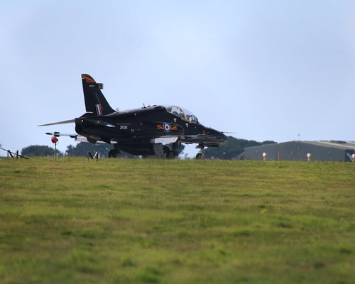 RAF 4 Squadron Hawk visiting the airfield