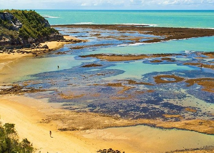Praia do espelho - quando a maré baixa - melhor dos mundos