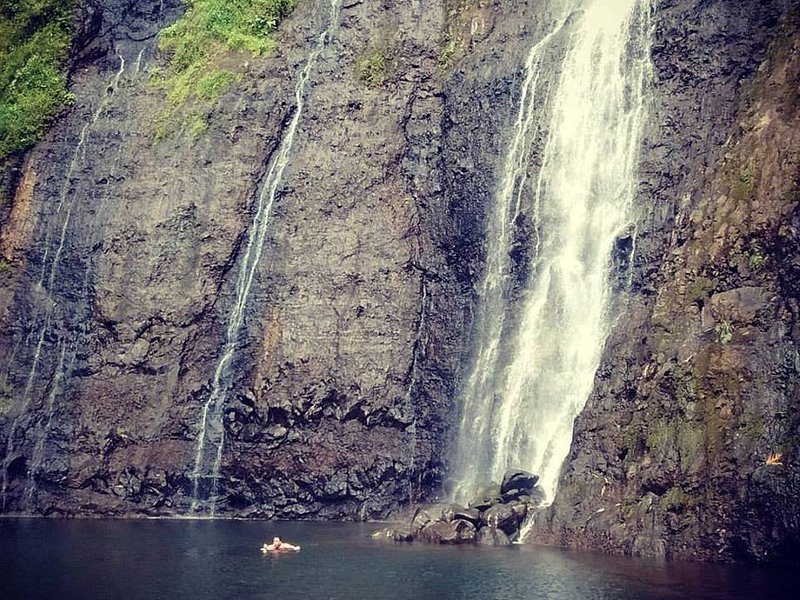 Unica cascada disponible al momento de visitar la atracción