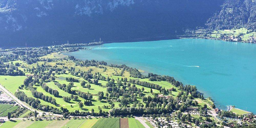 Aussicht auf dem Golfplatz Interlaken-Unterseen