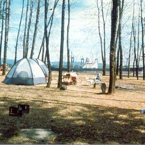 Camping on Sand Island
