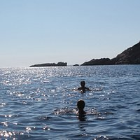 Swimming in Fellos Beach, Andros