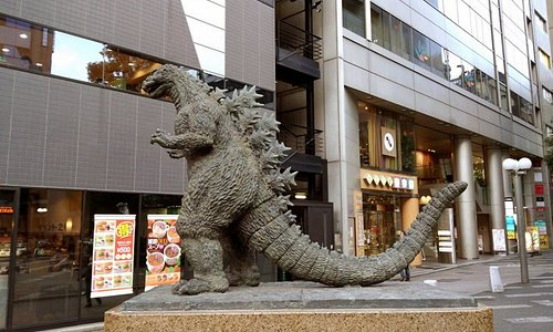 ゴジラ像 千代田区(TOHOシネマズシャンテの前)