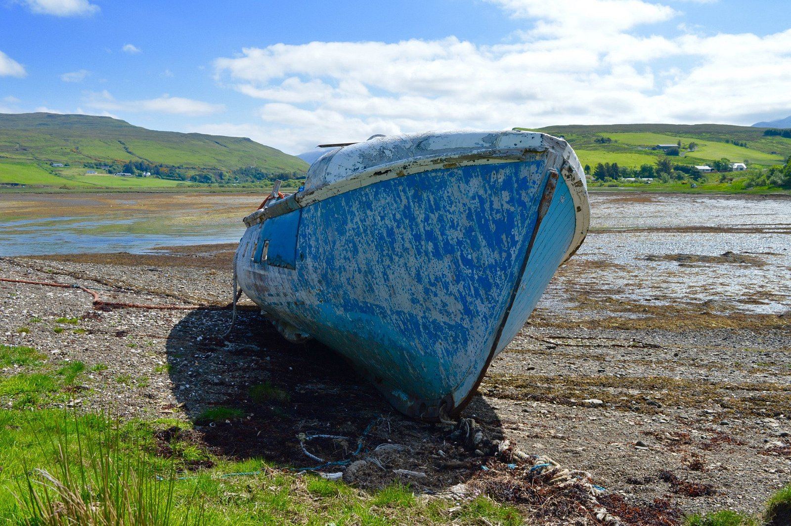 Old Lifeboat on Loch Harport at Carbost, Isle of Skye