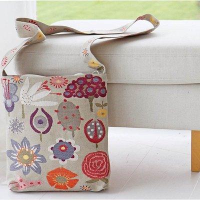 Jacquard-woven messenger bag by HildaHilda. Made in Sweden