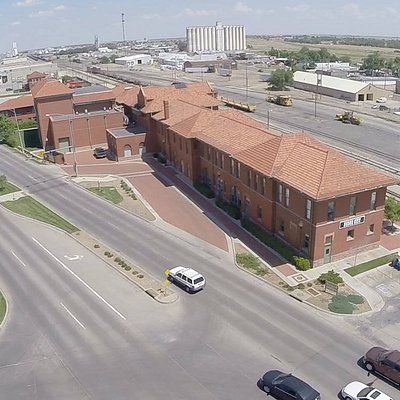 The Depot Theater from the air.