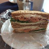 Salmon Sandwich and Salmon Soup