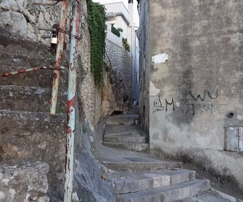 stairs up to the church