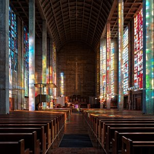 The inside of the Chruch