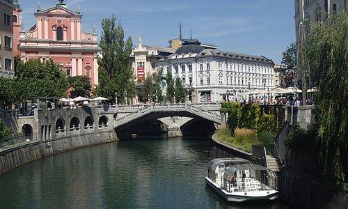 boat cruise, Ljublanica River