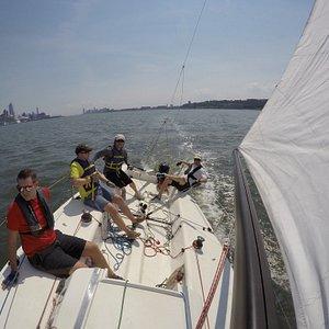 Sailing the Hudson on J80's!