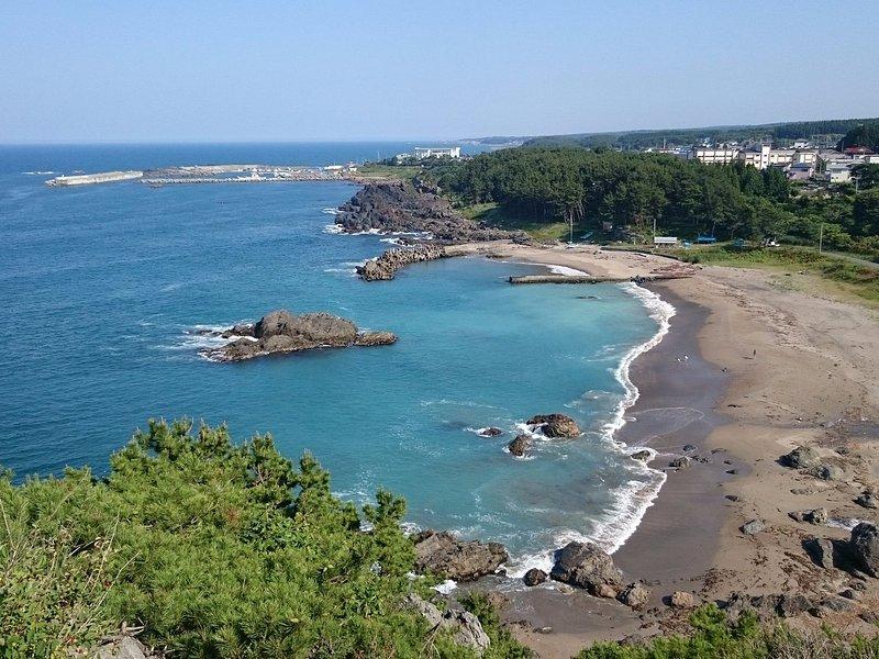 高岩展望台から見た大久喜海岸