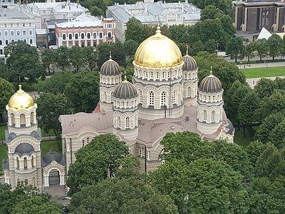 Vista de la iglesia desde la terraza del hotel Radisson