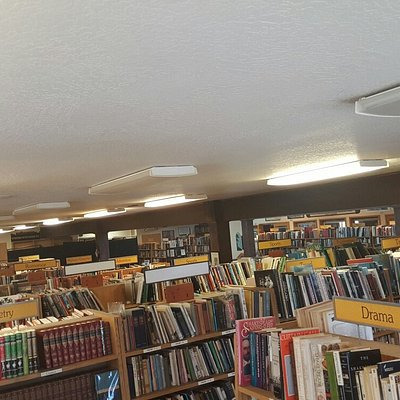 This is just the second floor, the 1st floor has just as many books!