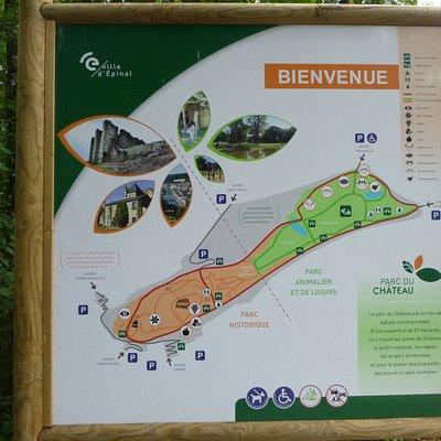 Kaart van het park