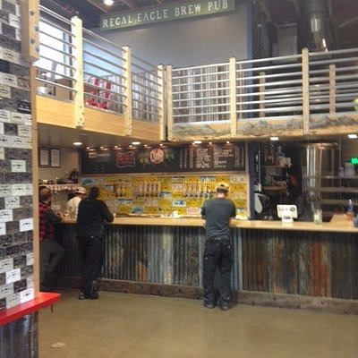 Odd Man Rush Brewing bar area