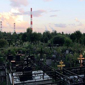 Памятники Волковского кладбища и Северная ТЭЦ