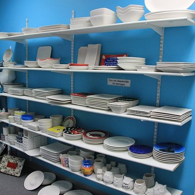 Lots of plates, bowls and platters!