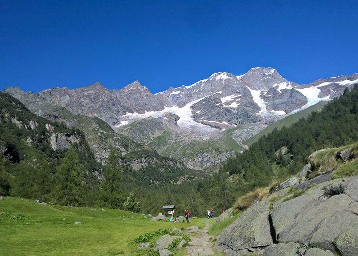 La vista del Monte Rosa dal Pastore