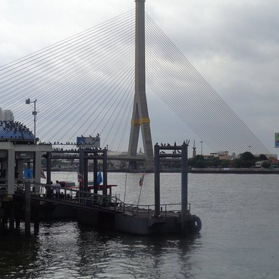Rama VIII Bridge across Bangkok's Chao Phaya River
