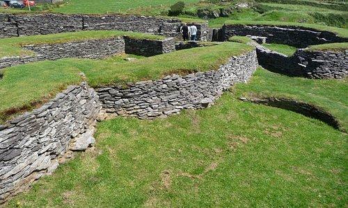 Gut erhaltene Mauern