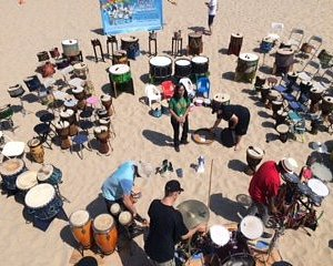 Free To Be You and Me drummers. A great cause, if not a little noisy.