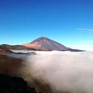 Spectacular Mount Teide above a sea of cloud