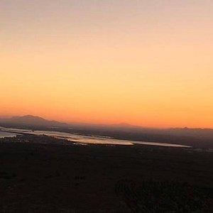 Sunset flights at the coast