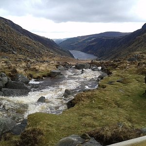 Glendalough Valley from above