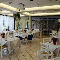 la sala da pranzo molto accogliente.....