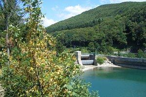 Caditoio della diga del Brasimone