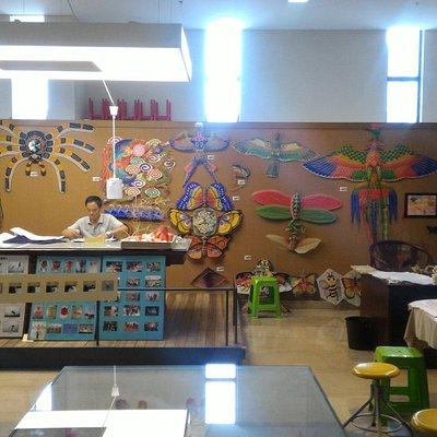 A kite-making master in his studio