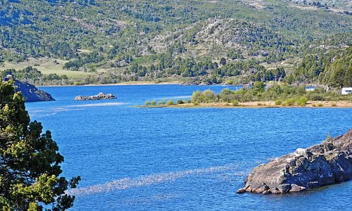 Lago Pulmarí en Piedra Pintada