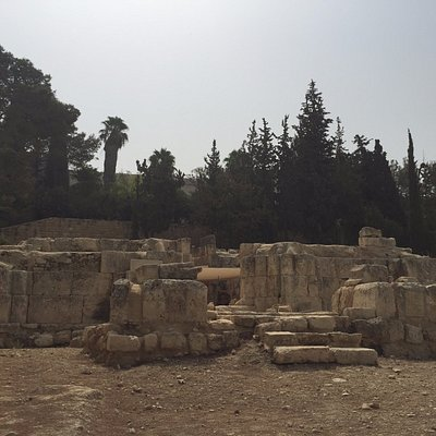 As ruínas em Emaús