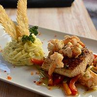 Shrimp & Mahi Mahi Scampi