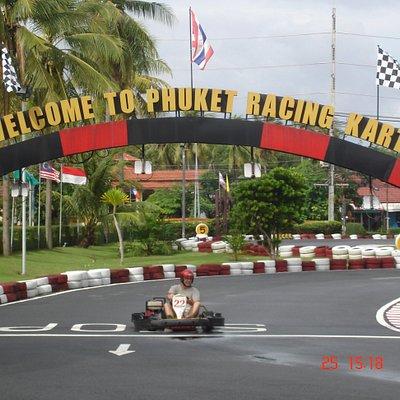 Go kart racing.
