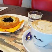 Cappucino & Blueberry pie