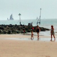 Safe family fun on the beach at Walton on the naze.