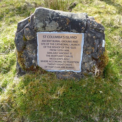 Plaque for St. Columba's Island