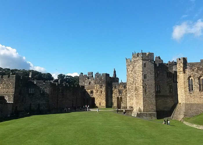 A vast intact castle.