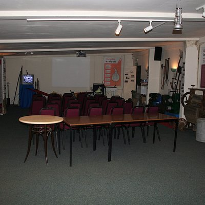 The 'auditorium' showing a short film on the history of bulb growing in Spalding