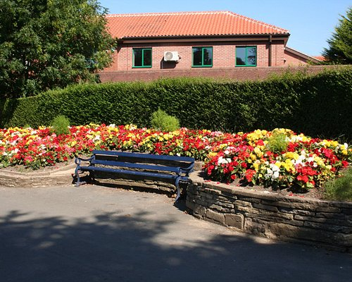 There's plenty of seating in pleasant surroundings