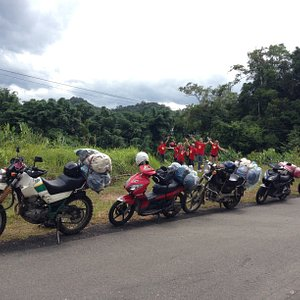 Yolo.Motorbike trip from Hoi An to Phong Nha National Park. Through Vietnam