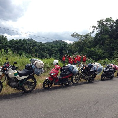 Yolo.Motorbike trip from Hoi An to Phong Nha National Park. Through Vietnam