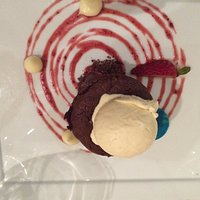 La Trattoria molten chocolate with red berries
