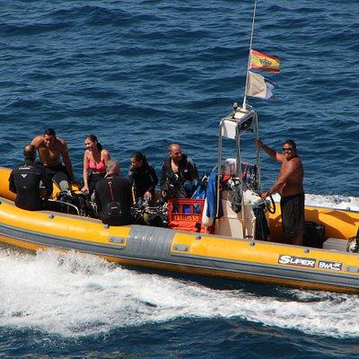 Boat dives Puerto Rico Gran Canaria