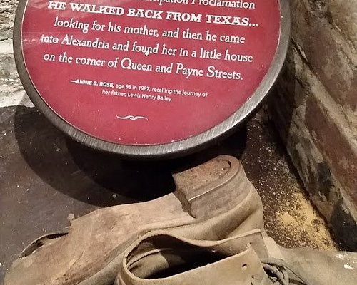 Shoes from former slaved that walked from Texas to Alexandria in search of his family
